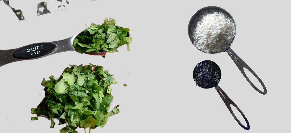 white rice chopped coriander